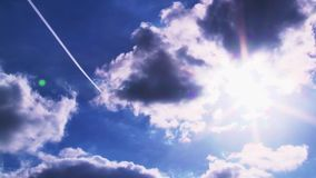 Blue sky with white clouds stock video