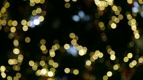 Blue and yellow bokeh. Video of blue and yellow bokeh stock video footage