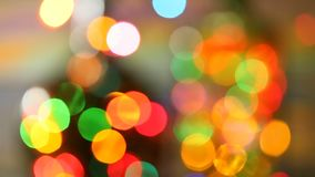 Video bokeh festive background. Blurred, bokeh lights background. Abstract sparkles stock video