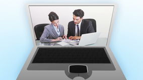 Video of businessmen and women in an office Stock Images