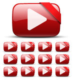 Video button Stock Image