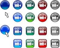 Video buttons. Stock Photos