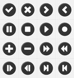 Video buttons Royalty Free Stock Image