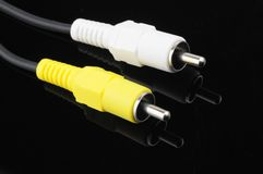 Video Cable Plugs Royalty Free Stock Photos