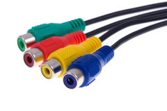 Video cables on isolated Royalty Free Stock Image