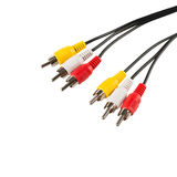 Video cables isolated. Audio Video cables isolated on white background Stock Photography