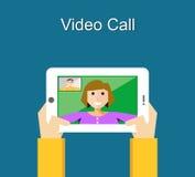 Video call concept. Stock Photo