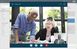 Video Call Conference Chatting Communication Concept royalty free stock images