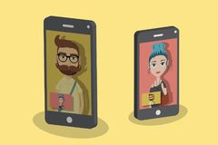 Video call royalty free illustration