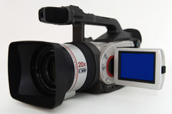 Video camcorder on white background Stock Images