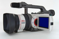 Video camcorder on white background Royalty Free Stock Images
