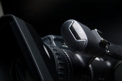 Video Camera 1. Professional video camera for production business Stock Photos