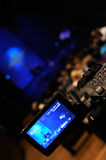 Video camera. Digital video camera shooting a rock concert Royalty Free Stock Photo