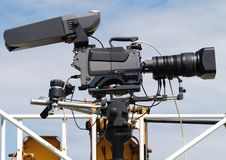 Video camera. As used on crowd control by the Police Royalty Free Stock Image