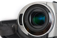A video camera. A lens of video camera Royalty Free Stock Image