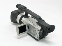 Video Camera 2. This is a picture of a modern video camera isolated on a white background Stock Photo