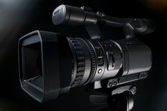 Video Camera 2. Professional Movie Camera for production business Stock Photo