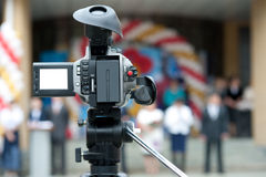 Video camera. During removal on wedding Royalty Free Stock Image