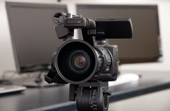 Video camera. Professional HD digital video camera Stock Photography