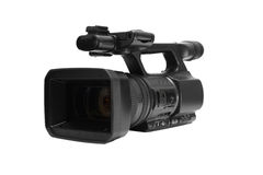 Video camera. On white background stock image