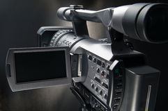 Video Camera 3. Professional Movie Camera for production business Stock Images