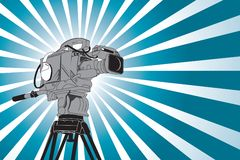 Video camera. In vector style Royalty Free Stock Photography