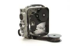 Video camera. Shot of an old video camera Royalty Free Stock Photography