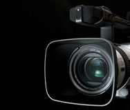 Video camera. Semi-professional video camera on black background. Other camera images available in my portfolio Royalty Free Stock Photography