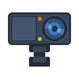 Video camera action camcorder vector illustration. Stock Images