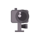 Video camera action camcorder vector illustration. Stock Image