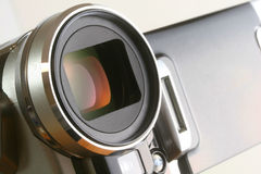 Video camera at angle Stock Photo