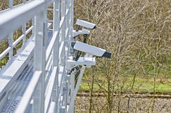 Video cameras for video surveillance Stock Images