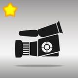 Video camera black Icon button logo symbol Stock Images
