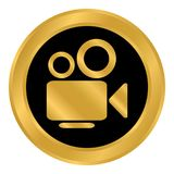 Video camera button. Royalty Free Stock Photography
