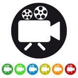 Video camera camcorder icon for apps and websites