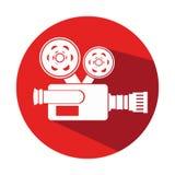 Video camera cinema icon. Illustration design Stock Photos