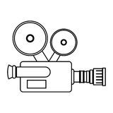 Video camera cinema icon Royalty Free Stock Photography