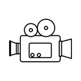 Video camera cinema icon. Vector illustration design Royalty Free Stock Photography
