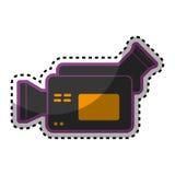 Video camera cinema icon. Vector illustration design Stock Images