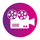 Video camera cinema icon. Vector illustration design Royalty Free Stock Image