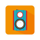 Video camera cinema icon. Vector illustration design Royalty Free Stock Images