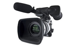 Video Camera (Clipping path) Stock Photography