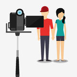 Video camera design Royalty Free Stock Photography