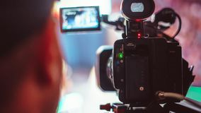 Video camera of the event Royalty Free Stock Photography