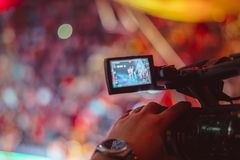 Video camera of the event Royalty Free Stock Image