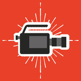 Video camera film icon Royalty Free Stock Photography