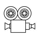 Video camera film icon Stock Photography