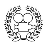 Video camera film icon. Vector illustration design royalty free illustration