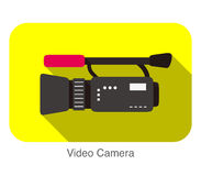 Video Camera flat icon design, verctor illustration Royalty Free Stock Photos