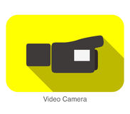 Video Camera flat icon design, verctor illustration Royalty Free Stock Image